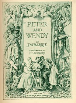 'Peter and Wendy', title page of the 1911 UK edition