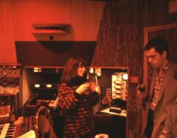Kate Bush and Peter Gabriel at Townhouse Studios